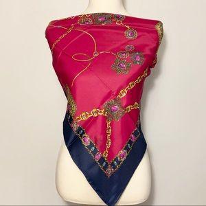 Chanel Vintage Silk scarf 100% silk